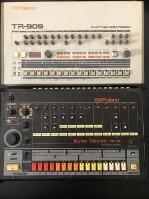 Rolan TR 808 y Roland TR 909