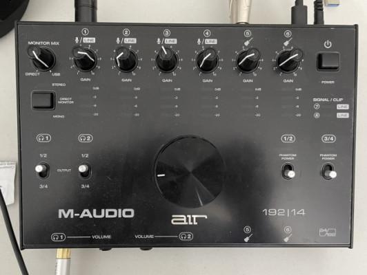 Vendo Interfaz M-Audio AIR 192|14 y Micrófono Condensador M-Audio Solaris
