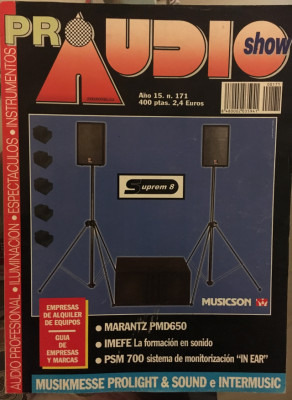 Revistas técnicas españolas por audio / sonido 1 profesional colección