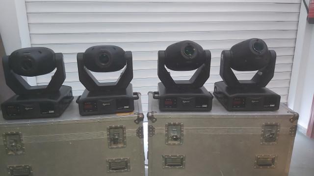 4 Moviles Coef Mp250 Zoom + 2 Flightcases + Mesa Dmx Coef