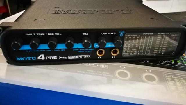 Interface de audio MOTU 4 Pre Hybrid