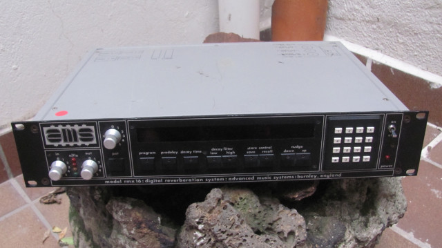 AMS/ Neve RMX 16 digital reverb, joya de los 80's