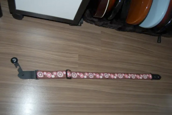 Correa Ukelele Planet Waves Jaquard Pink and Brown Flowers