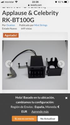 Compro caja y conector bateria Ovation
