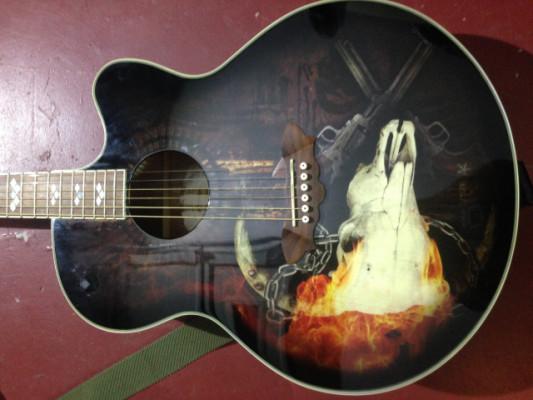 Washburn J32CE George Lynch signature jumbo electro-acústica