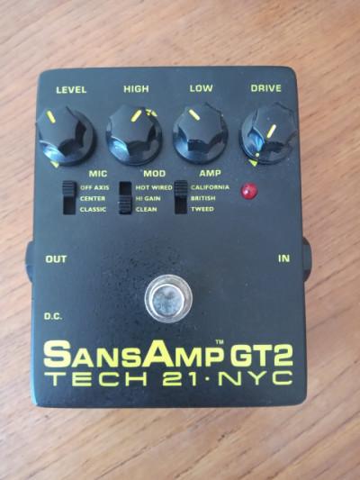 Simulador de ampli Sans Amp GT2 Tech 21