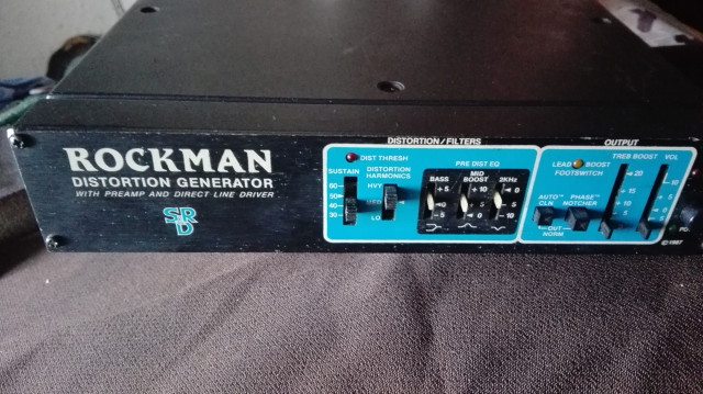 ROCKMAN DISTORTION GENERATOR AÑOS 80