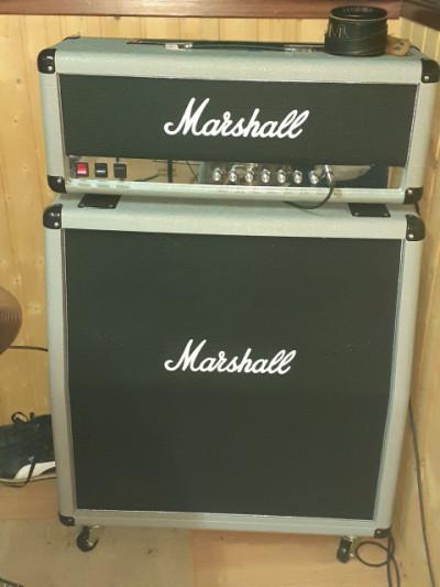 Marshall silver jubilee cabezal y pantalla