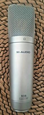 Micrófono Condensador M-Audio Nova (Incluyo de Regalo Cable Nuevo A Estrenar)