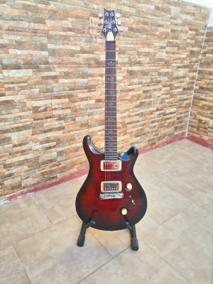 ¡REBAJADA! Guitarra luthier - PRS Custom 24 redburst réplica impecable - Matute Guitars