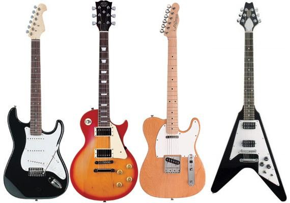 Guitarras eléctricas para decoración