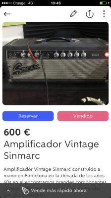 Sinmarc Amplificador años 60 blackface b60 handwired