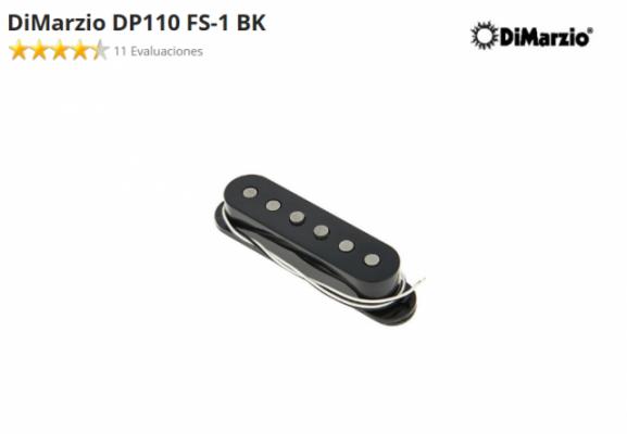 Pastilla DiMarzio DP110 FS-1 BK