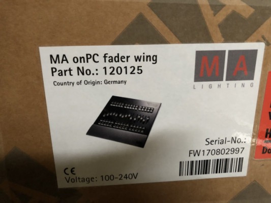 comand y fader wing MA on PC