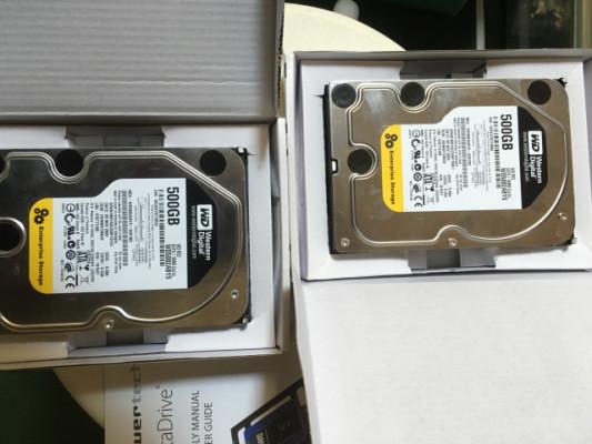 2 Western Digital.  Sata 500 gb Re3