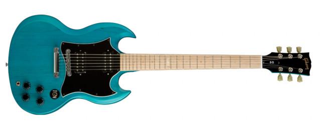Gibson SG Raw Power Satin Aquamarine