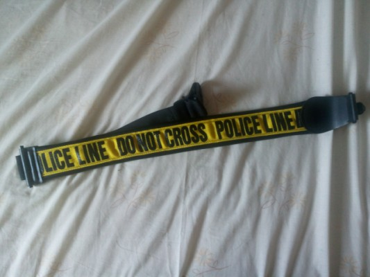 bandolera, correa Police líne, con cierre de seguridad