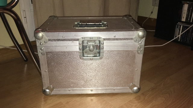Flight case para micrófonos