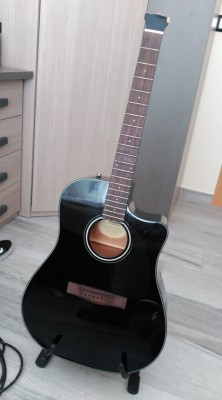 Fender CD-60 CE BK (PALA ROTA)