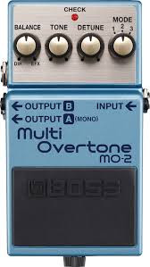 O cambio por otros pedales Boss multi overtone
