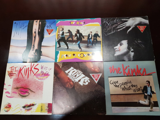 Vinilos de los Kinks.