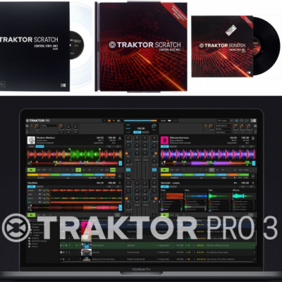 Traktor 3 + Scratch + 3 Timecode Vinyls + 2 CDs