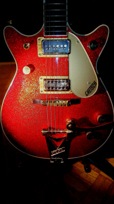 GRETSCH DUOJET RED SPARKLE 6129TC.  1962.