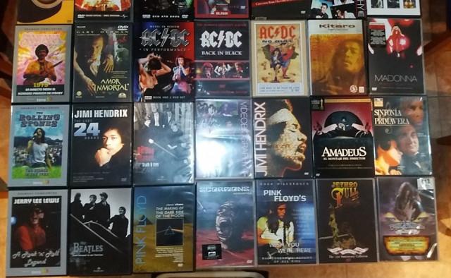 Vendo colección de DVD musicales.