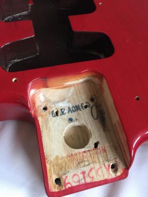 Cuerpo Fender Stratocaster Ash