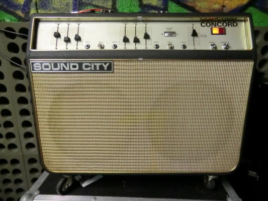 60's SOUND CITY Concord 40w tube amp. ARBITER DALLAS. London.