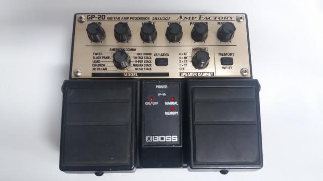 Boss gp20 amp factory