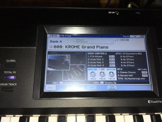 korg krome 61 actualizado con funda soporte y pedal sustain