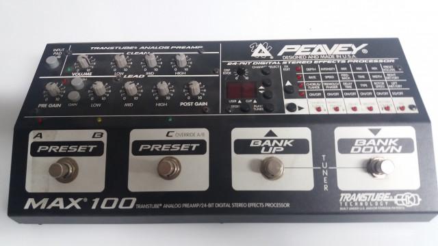 Peavey MAX 100 transtube pedalera multi fx