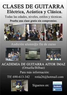 Clases de Guitarra en Ortuella/Bilbao. 7,50€/h. Prueba una clase gratis.
