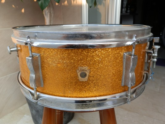 "Caja Ludwig Pioneer Gold Sparkle 14""x5"" Vintage 1966 Snare Drums"