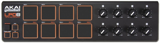 Controlador de pads y knobs Akai LPD8