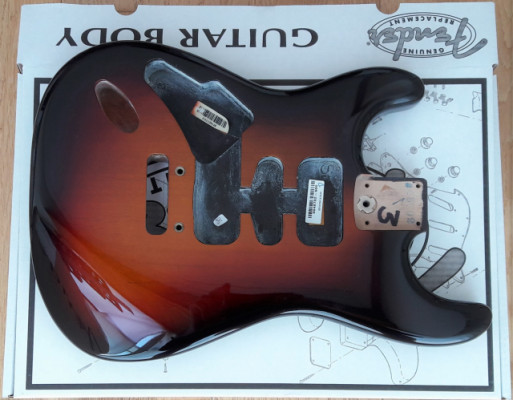 Cuerpo Fender Stratocaster USA 3TS Zurdo
