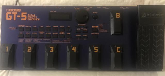 Boss GT-5 Procesador de efectos de guitarra