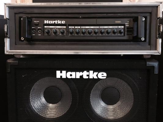 "VENDO-CAMBIO Hartke HA4000 (flight case) + pantalla 4x10"""