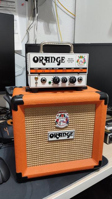 "Amplificador Orange Micro Terror 20W + Pantalla Orange PPC108 8"""