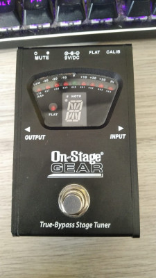 Pedal Afinador On Stage Gear True-Bypass