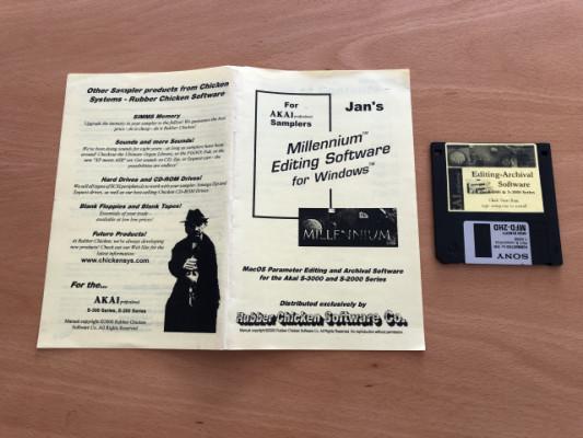 AKAI S2000 / S3000 Millennium Editing Software para Windows