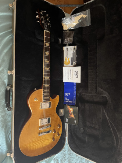 Gibson les Paul translucend amber standart