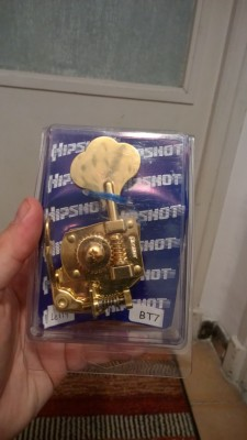 "HIPSHOT Bass Xtender (D-Tuner) BT7 >>> dorado / zurdo o ""treble side"""