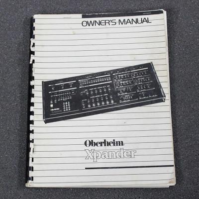 Manuales originales de sintetizadores y outboard