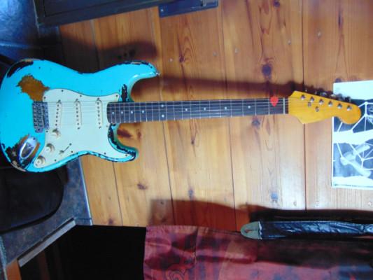 Stratocaster Relic Seafoam Green over 2 color sunburst