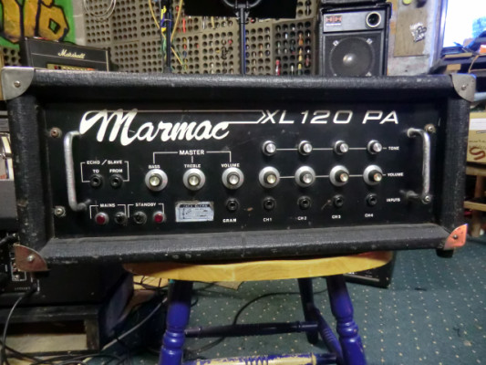 70's MARMAC XL120 PA System a Valvulas 120w Made in Republic of Ireland.