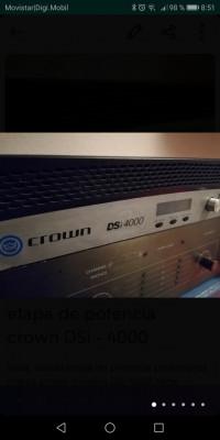 Etapa de potencia crown DSi 4000