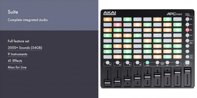 Ableton Live 10 Suite + Akai APC Mini