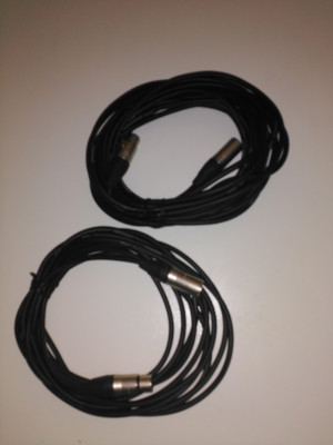 Vendo cables XLR  como nuevos